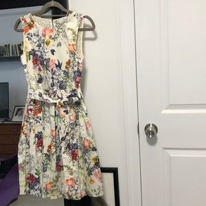 ModCloth Floral Dress UK 8 (Small)